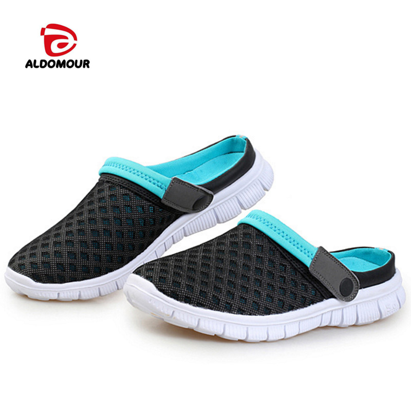 ALDOMOUR New pattern Summer Sandals Shoes Breathable Beach Slippers Mens beach Outdoor Water sports shoes