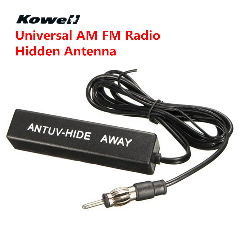 KOWELL Universal Electronic Car Stereo AM FM Radio Hidden Antenna Aerial Amplified for Lada for Volkswagen VW Golf Bora RIO Auto