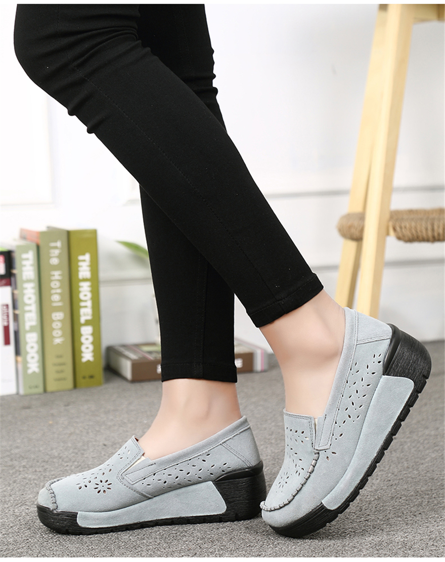17f7b34764c women spring sneakers shoes ladies flats platform breathable mesh slip on tenis  feminino chaussure femme creepers shoes 1839USD 18.40-20.92 pair. TKN 2019  ...