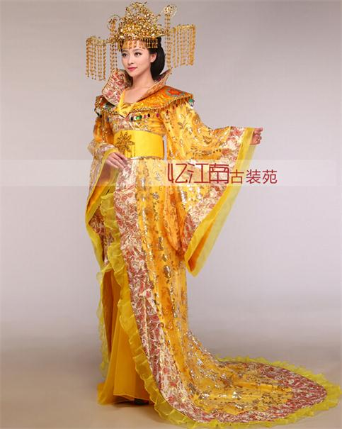 Women's stand collar the noble temperament trailing dress the queen of the tang dynasty clothing Chinese ancient costume