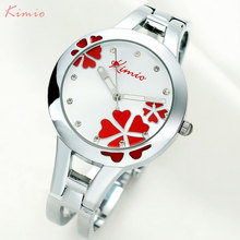 KIMIO brand women quartz watch dress watches Montre Femme Silver Bracelet Clock fashion casual famale wristwatch girl gift clock