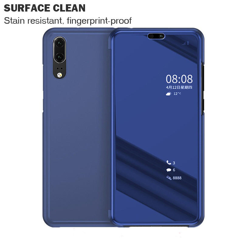 Cell Phone - Mirror Flip Case For Huawei P Smart P20 P10 Mate