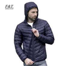 Xxxl утка вниз ультра верхняя капюшоном куртки куртка тонкий пальто осень
