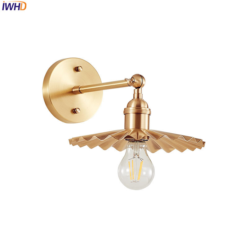 Led Indoor Wall Lamps Iwhd Copper Led Wall Light Fixtures Creative Decorative Nordic American Wall Lamp Vintage Sconces Lighting Luminaire Wandlamp Structural Disabilities Led Lamps