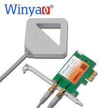 Winyao PCE-3168AC Dual Band PCi-Express Desktop WiFi Adapter 3168AC 3168NGW 433Mbps Wireless PCI-E with Bluetooth 4.2 BT 11ac