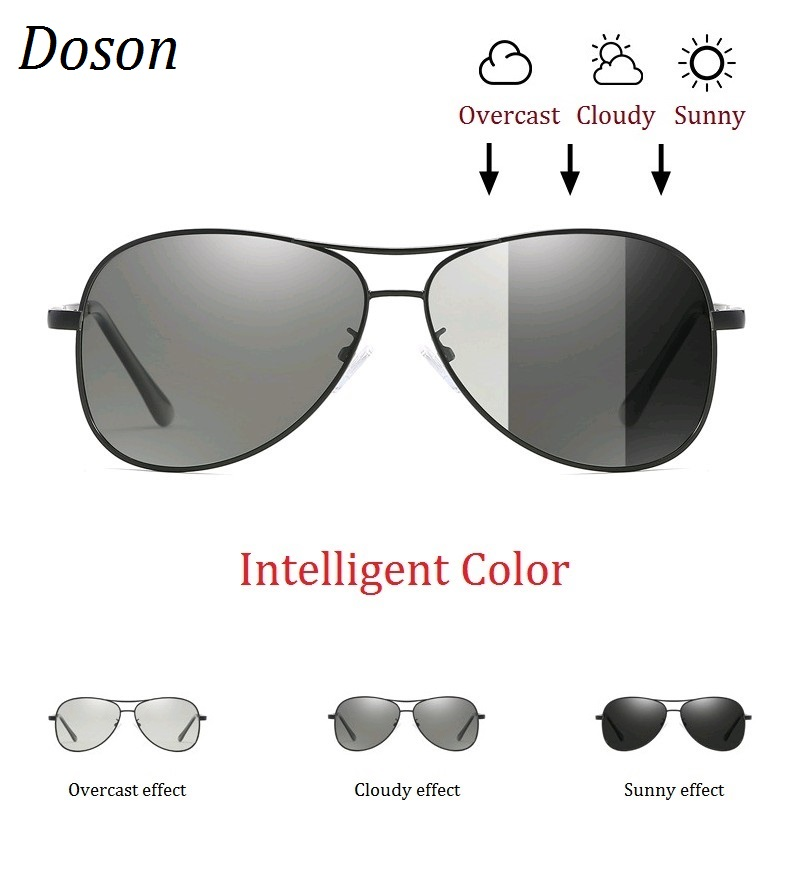 Photochromic Pilot Polarized Sunglasses Men Women Driving Chameleon Discoloration Sun Glasses Shades Oculos De Sol