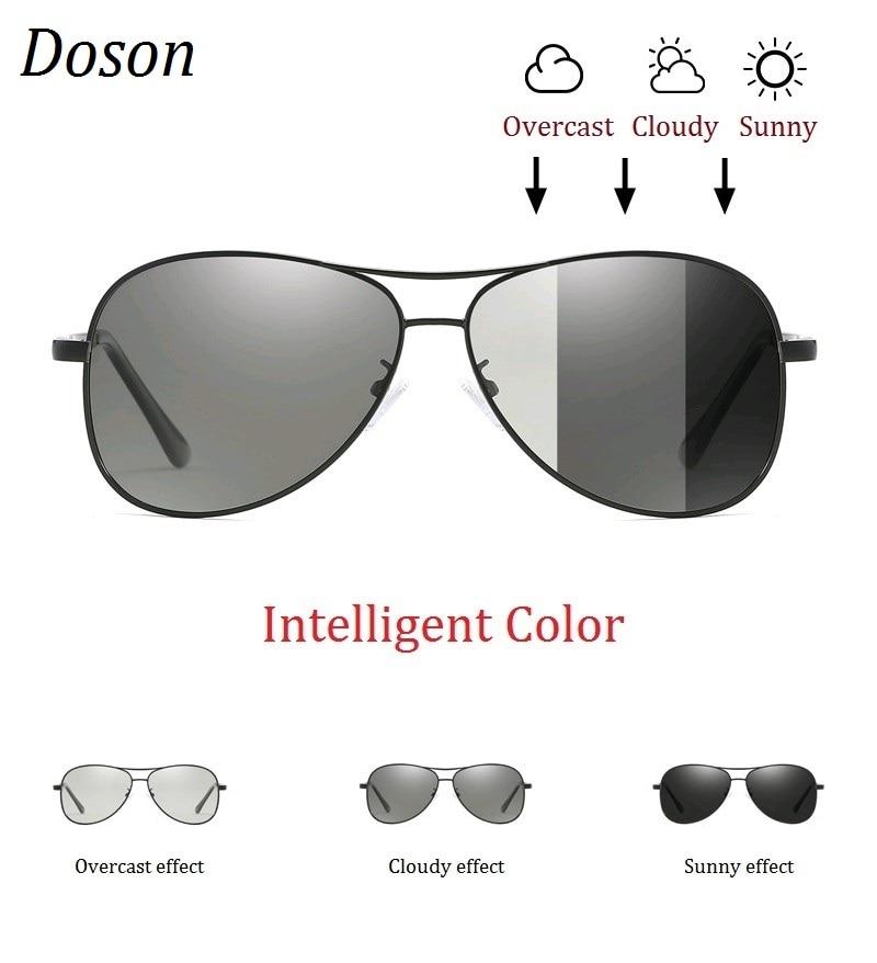 Photochromic Pilot Polarized Sunglasses Men Women Driving Chameleon Discoloration Sun Glasses Shades Oculos De Sol