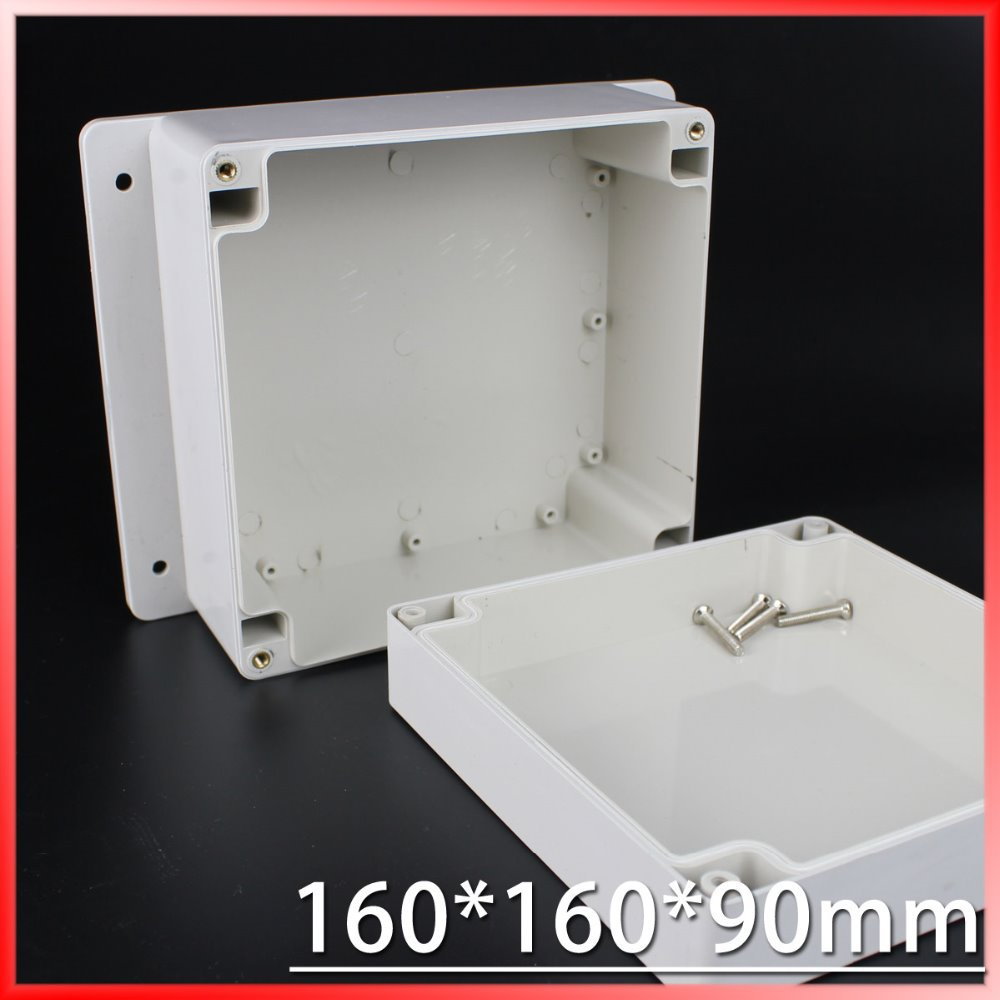 (1 piece/lot) 160*160*90mm Grey ABS Plastic IP65 Waterproof Enclosure PVC Junction Box Electronic Project Instrument Case 1 piece lot 83 81 56mm grey abs plastic ip65 waterproof enclosure pvc junction box electronic project instrument case