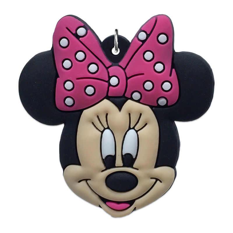 Única Venda 1pc Mickey Minnie PVC Acessórios de Decoração Para Crianças Para Colar Pingentes Encantos Jóias Da Moda Chave da Cadeia de Telefone