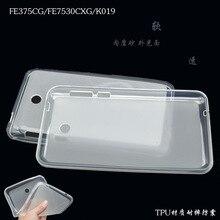 Fe375 case cubierta suave tpu de goma de silicona semi transparente volver case para asus fonepad 7 fe375cg fe375cxg fe7530cxg k019 de silicio