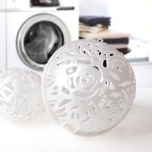 Белый Удобный Стиральная машина Стиральная Шар для бюстгальтера двойной Saver для женщин шариковый пузырь для стирки практичный инструмент для очистки