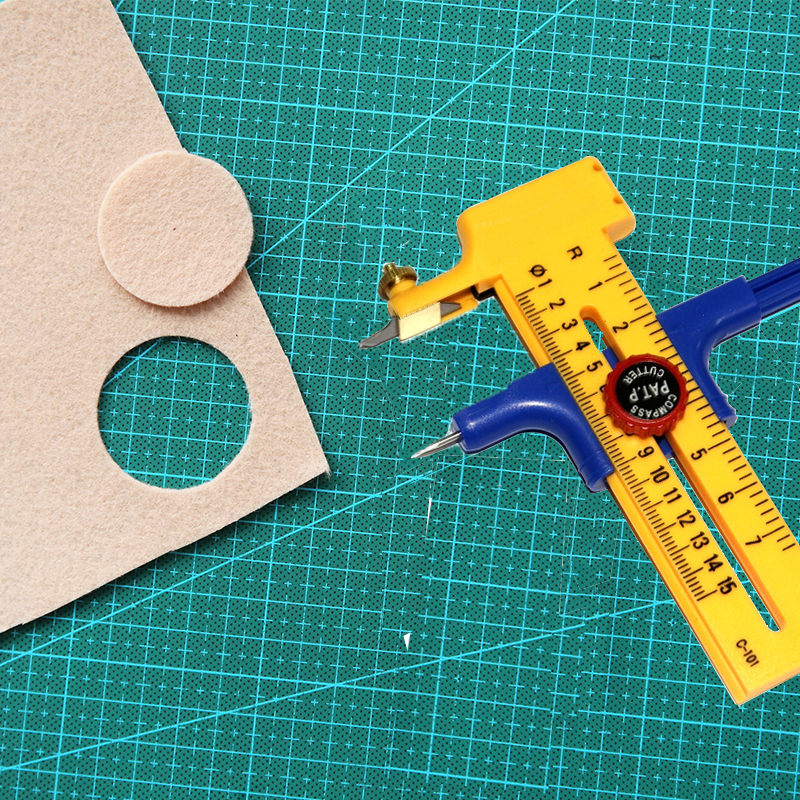 Dafa Compass Cutter  Spare Blades for Cutting Papers/Films/Leather Stainless Steel Cut Circle Knife 1