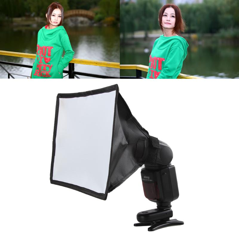 Vanpower Silver Reflector Flash Diffuser Softbox Professional Mini Photo Diffuser Soft Light Box for Canon Nikon Sony Camera universal soft screen pop up flash diffuser for nikon canon pentax olympus camera soft diffuser plastic diffuser softer 10d 20d
