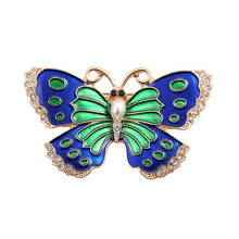 Retro exaggeration color enamel butterfly girl brooch 2017 animal Series brooches wholesale factory direct sale