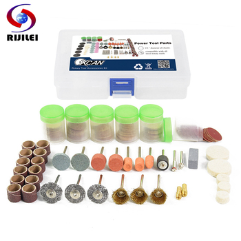 RIJILEI 217PCS Rotary Tool Bit Set Electric Dremel Rotary Tool Accessories for Grinding Polishing Cutting, grinder head rijilei 136pcs dremel rotary tool accessory attachment set kits grinding sanding polishing sander abrasive for grinder
