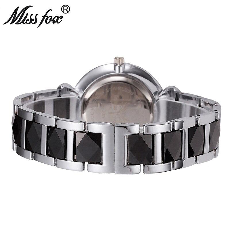 Новые женские часы брендовые кварцевые часы Роскошные водонепроницаемые золотые часы с розами Модные женские белые керамические часы Бесп... - 4