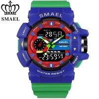 SMAEL Fashion Digital Men Watch Luxury Brand Sports Military Wristwatch Style Outdoor S Clock LED Male