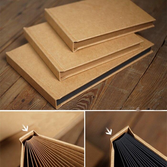 Kraft thick hardcover book card blank scrapbooking menu DIY album stick-painted albuns de fotos photo album book 17 sheets 34P