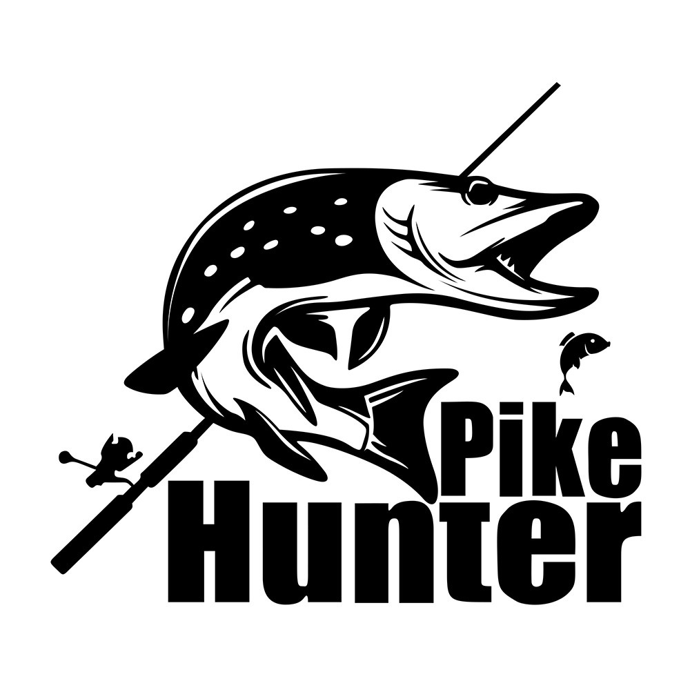 Packet included 1pike hunter sticker