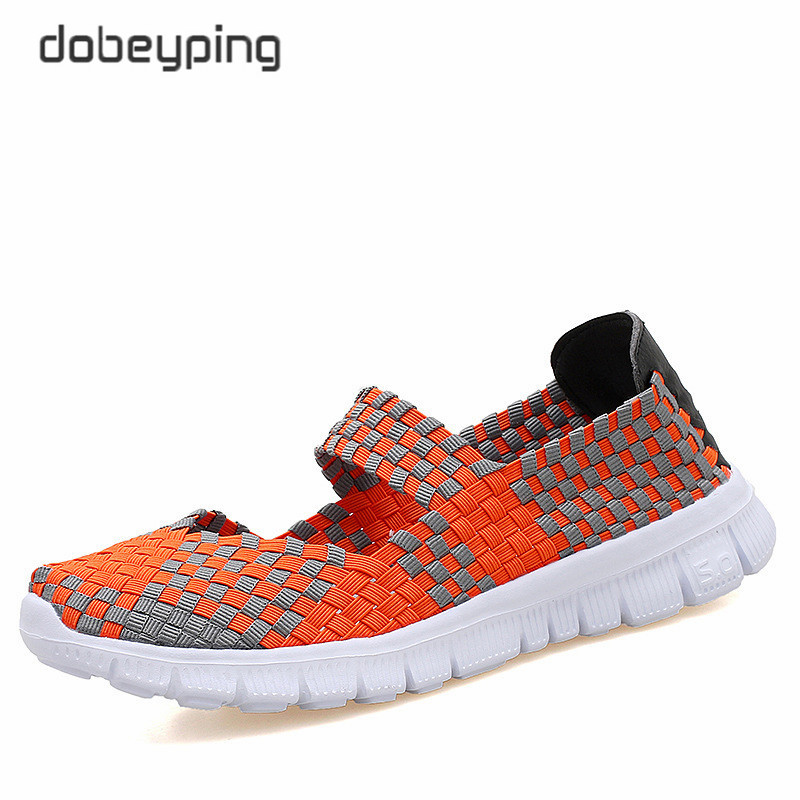 Casual Summer Women Flats Elastic Woven Woman Shoes Multi Colors Ladies Loafers Slip On Ladies Sneakers Comfortable Walking Shoe in Women 39 s Flats from Shoes