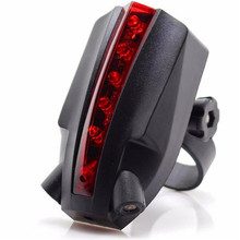 Bicycle accessories 2 Laser+5 LED Rear Bike Bicycle Goods for bicycles Tail Light Beam Safety Warning Red Lamp 17612 P30