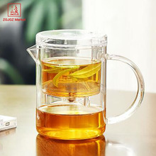 High Borosilicate Glass Tea Infuser Mugs Quality Coffee Cup Home Office Drinkware Unique Gift Handgrip Mug