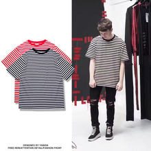 2017 New Fashion Fear of God Women's Mens T Shirt Striped Elastic Summer Shirt Breathable Casual Male Cotton T-Shirts Tops Tees