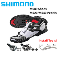 Shimano SH M089 Cycling Shoes SPD SPD SL MTB Mountain Bike Shose BLACK/WHITE suit for PD M520 PD M540 with Sh51 cleats