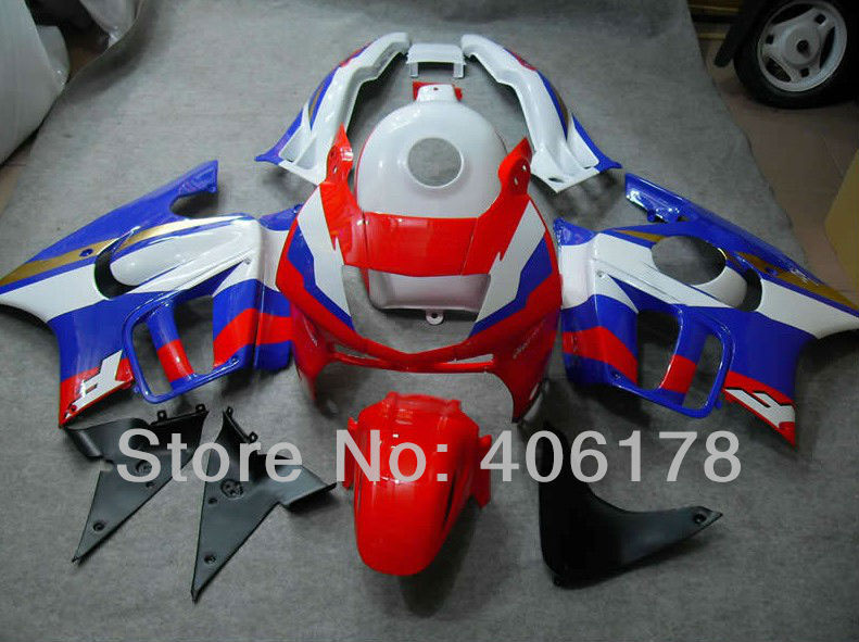 Hot Sales,For Honda CBR600 F3 1995/1996 CBR 600F3 95/96 CBR600/F3 CBR 600 Red Blue White Motorcycle Fairings (Injection molding)