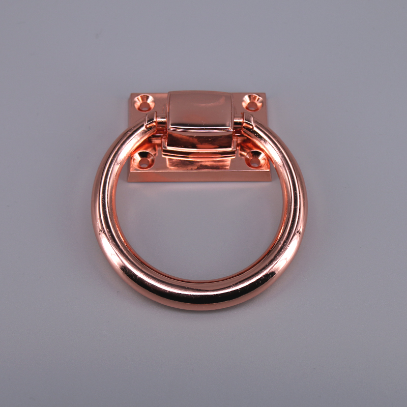 2pcs Zinc Alloy Wardrobe Cupboard Pull Handle Door Knocker Drop Rings Pull Rose Gold For Wooden Door Dining Chair To Reduce Body Weight And Prolong Life Hardware Cabinet Hardware