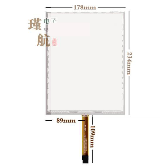 234*178 New 10.4 inch, five wire industrial touch screen, computer display, industrial control equipment, handwriting screen new amt2507 amt 252710 4 inch 234 178 5 wire resistance flat knitting machine touch screen touch panel glass free delivery