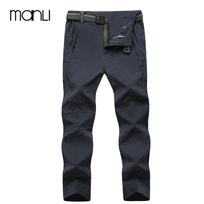 MANLI Camping Trekking Hiking Climbing Skiing Fishing Winter Waterproof Pants Men Fleece Outdoor Soft shell Trouser Sports 8XL