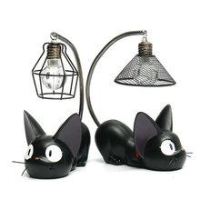 Artpad Miyazaki Hayao Kiki Delivery Service Jiji Cat Night Lamp for Baby Child Boy Girl Bedroom Lighting Fixtures недорого