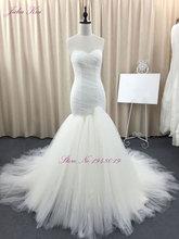 Liyuke Lengan Pendek Elegan Mermaid Wedding Dresses 2017 Manik-manik Kristal Appliques Mermaid Vestido De Noiva Custom Made