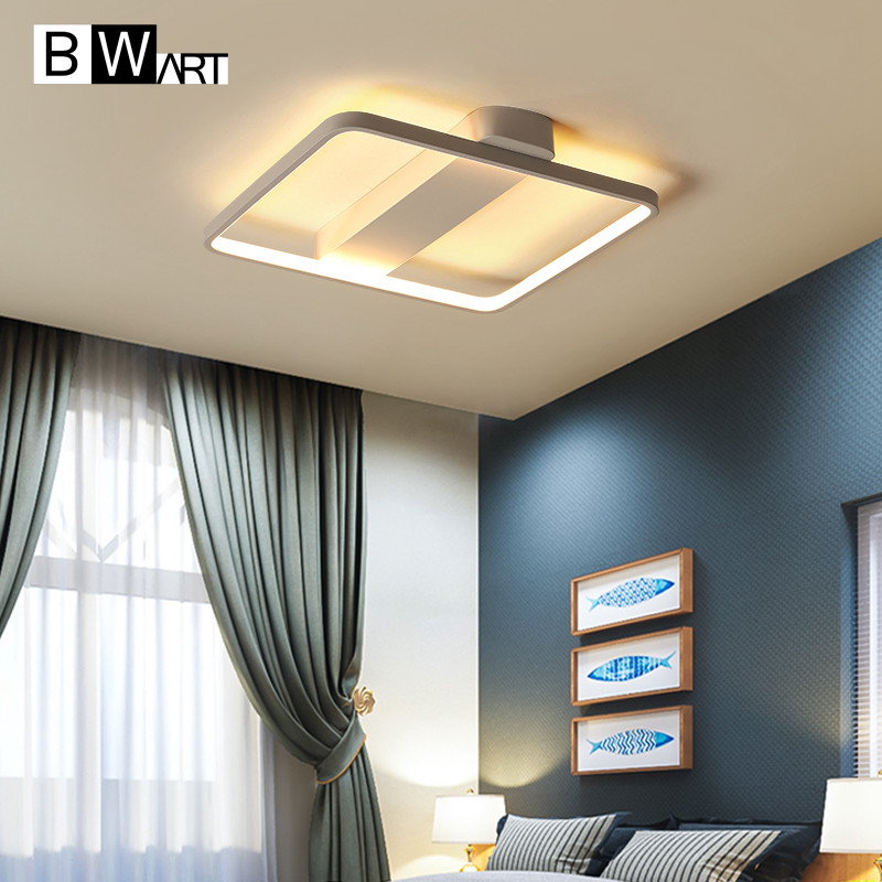 BWART Modern LED Ceiling Lights For Living Room Bedroom Simple Creative design Indoor lighting Ceiling Lamp Remote lighting modern ceiling lamp contemporary acryl creative lighting simple design white black luminaire ac for living room hall foyer light