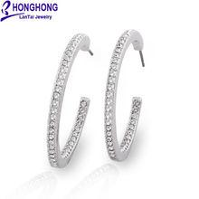 Женские серьги кольца honghong круглые с круглыми петельками