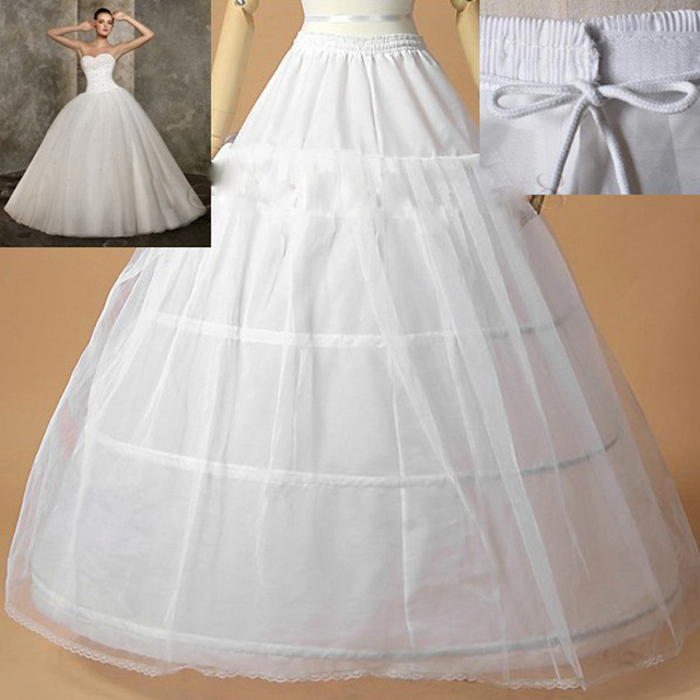 Hot Sale Edge 3 Hoop Petticoat Underskirt For Ball Gown Wedding Dress 110cm Diameter Underwear Crinoline