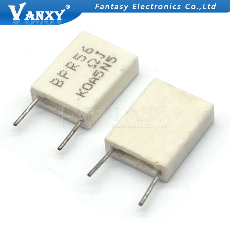 Image 2 - 100pcs BPR56 5W 0.1 0.15 0.22 0.25 0.33 0.5 ohm Non inductive Ceramic Cement Resistor 0.1R 0.15R 0.22R 0.25R 0.33R 0.5R-in Resistors from Electronic Components & Supplies