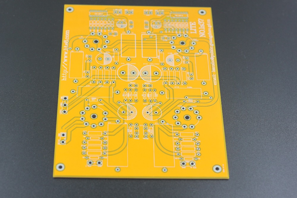 LS37 tube phono stage  MM & MC dual input/high feedback LS37 tube PCB board partes del cable coaxial