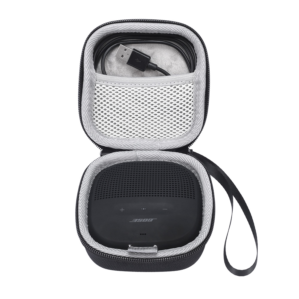 2019 New PU Carry Protective Speaker Box Cover Pouch Bag Case For Bose SoundLink Micro Bluetooth Speaker-Extra Space For Cables