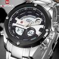 Top Luxury Brand Men Full Steel Military Watches Men's Quartz Digital LED Sports Wrist Watch Male Clock Relogio Masculino + box