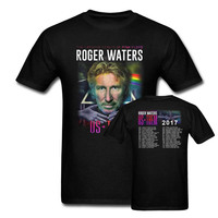 Roger Waters Live Tour US THEM 2017 Pink Floyd Concert Tee T Shirt New Black Summer