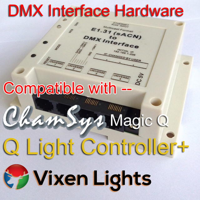 US $95 0 |e1 31 (sACN) to DMX Interface Controller Bridge, Plug & Play  DMX512 Hardware up to 2048 channels  Replace USB to DMX Dongle -in RGB