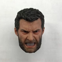 ELEVEN 1/6 Angry Logan Wolverine Head Sculpt Hugh Jackman For 12 Figure toy Collection Toy