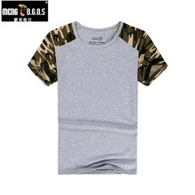 MENGD G O S Man Casual Camouflage T shirt Men Cotton Army Tactical Combat T Shirt