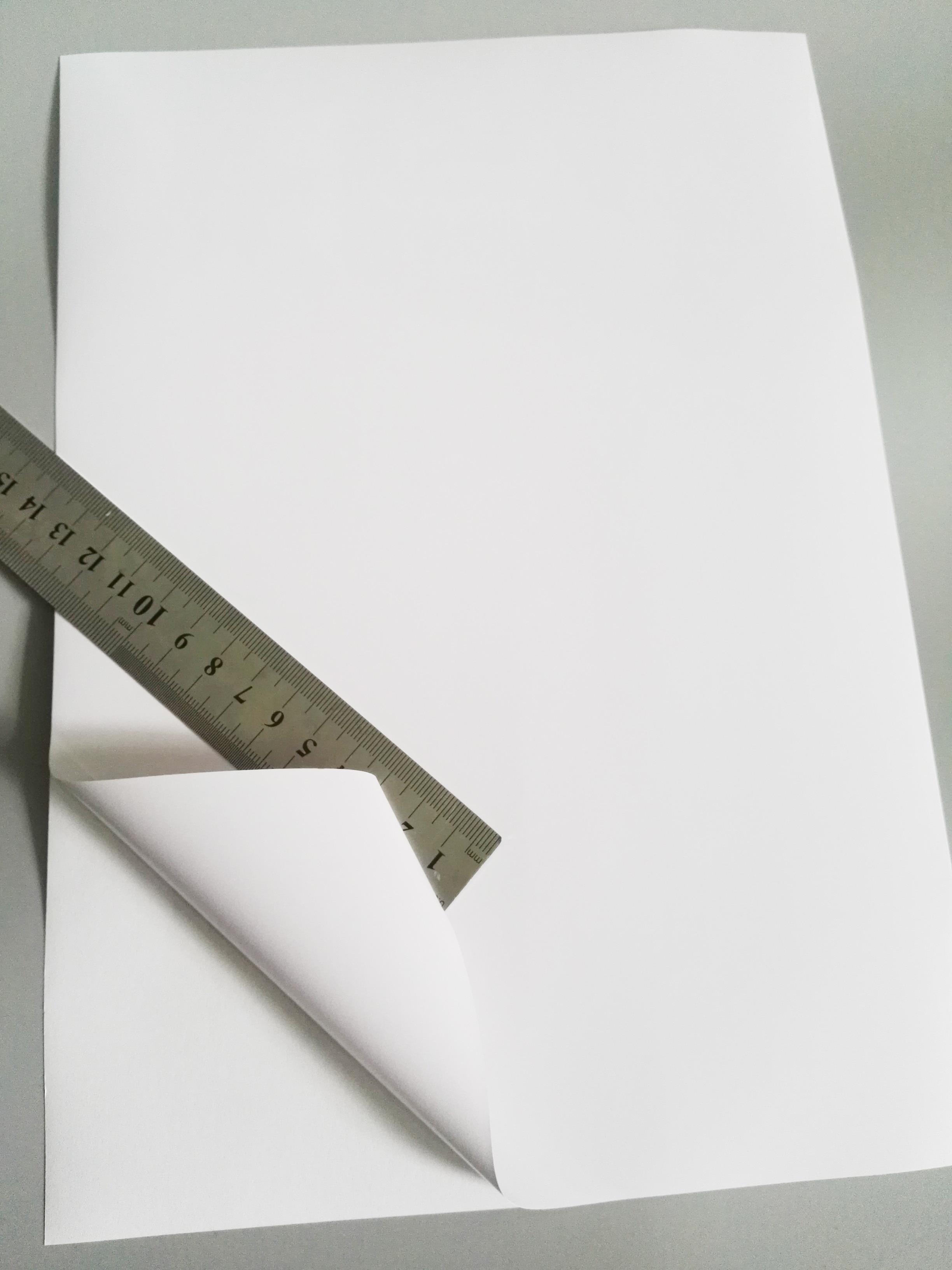 FUNCOLOUR A4 чистый водонепроницаемый самоприклеивающаяся этикетка глянцевый белый винил этикетка для струйный принтер новый специальный материал RJ0001G-in Канцелярские наклейки from Офисные и школьные принадлежности