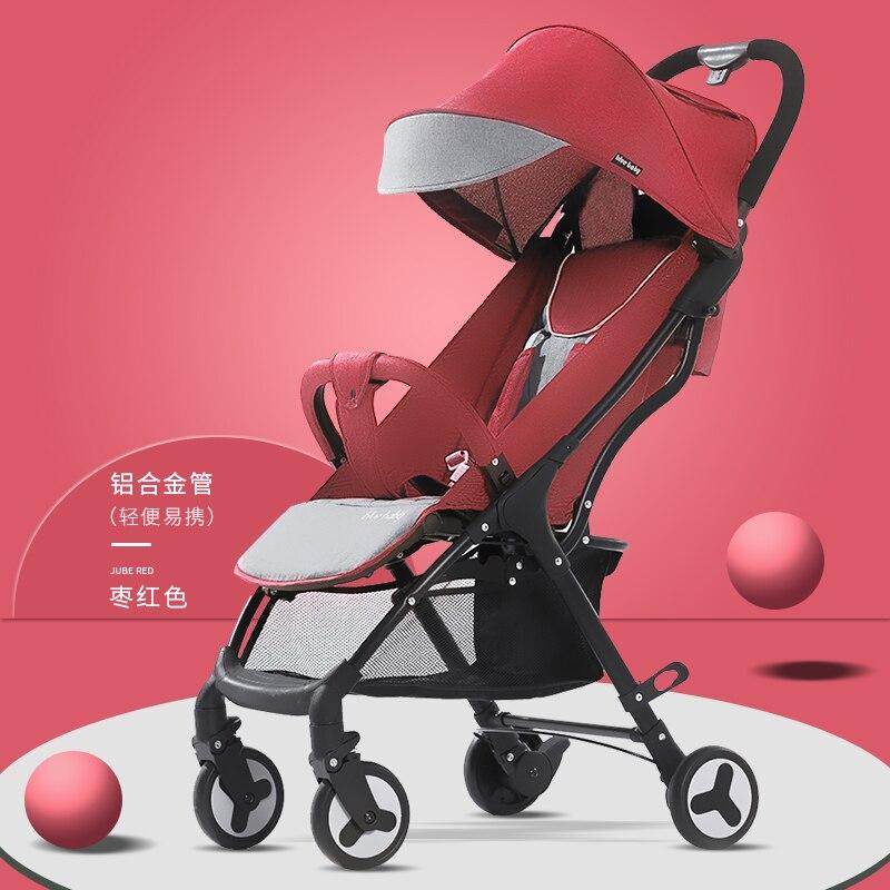 Bluebaby poussette peut s'asseoir inclinable ultra léger portable pliant bébé parapluie quatre roues enfants poussette