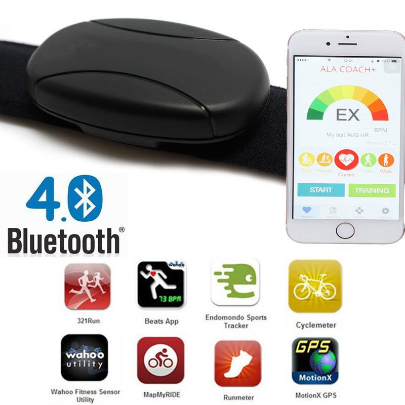 heart rate monitor bluetooth android wahoo fitness strava runtastic 60beat  BLUE sports tracker heart rate monitor chest strap-in Accessories from