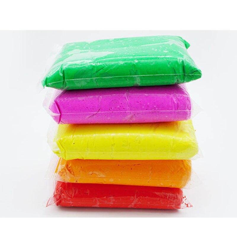 1000g main gomme jouer pâte moelleux Slime Super léger argile modélisation polymère main et pied encreur sable pâte à modeler caoutchouc boue jouet