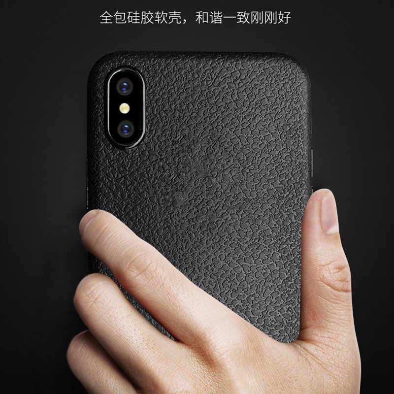 Ultra บางกรณีโทรศัพท์สำหรับ iPhone 5 5S SE 6 6S 7 8 Plus X XS XR สูงสุดฝาครอบหนังนุ่ม TPU ซิลิโคนสำหรับ iPhone 6S